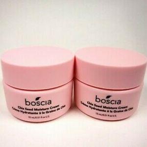 NEW 2× Boscia Chia Seed Moisture Cream Travel